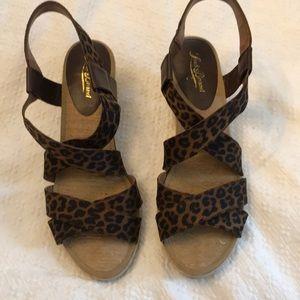 Lucky Brand leopard wedges